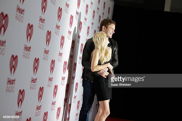 Actors Anna Faris and Chris Pratt attend the 2014 iHeartRadio Music Festival at the MGM Grand Garden Arena on September 20 2014 in Las Vegas Nevada