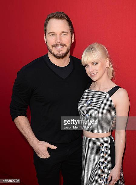 Actors Anna Faris and Chris Pratt attend the premiere of 'The LEGO Movie' at Regency Village Theatre on February 1 2014 in Westwood California