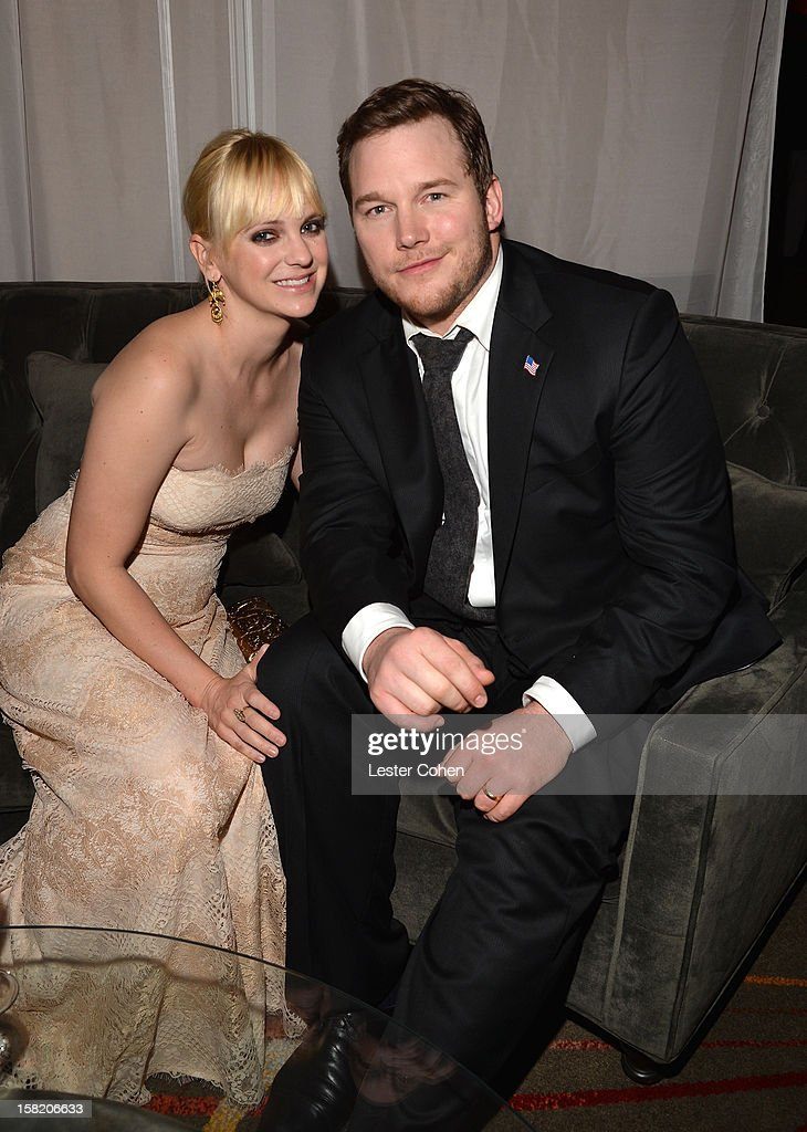 Actors Anna Faris and Chris Pratt attend the 'Zero Dark Thirty' Los Angeles Premiere- After Party at Dolby Theatre on December 10, 2012 in Hollywood, California.