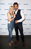 Anna Faris And Eugenio Derbez Visit SiriusXM Studios In...