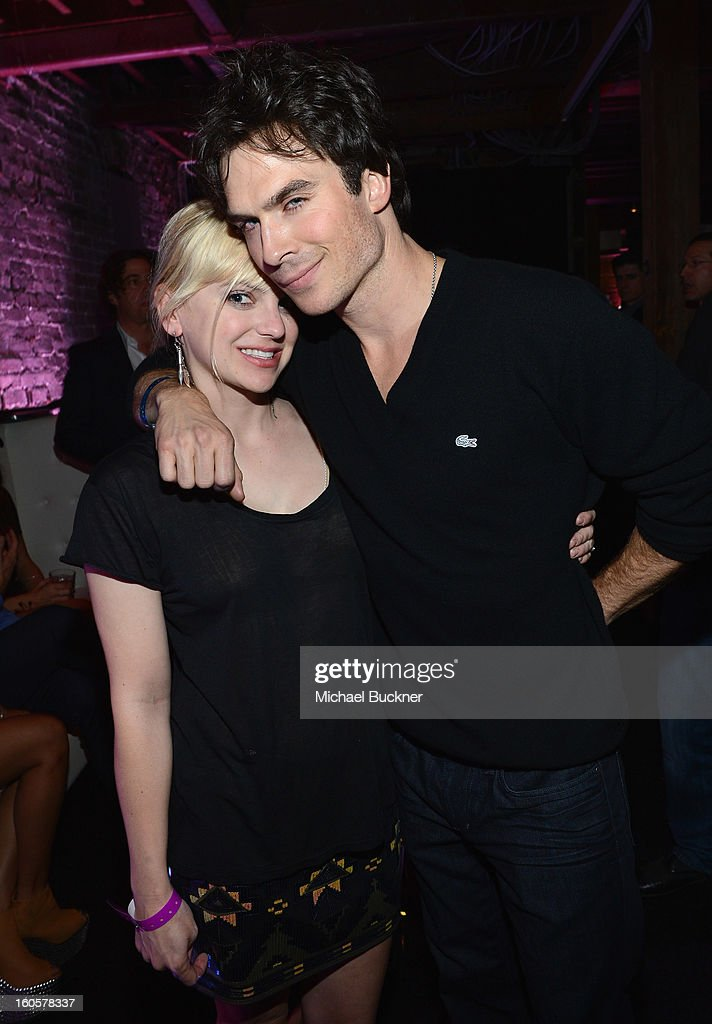 Actors Anna Faris and Ian Somerhalder attend the Audi Forum New Orleans at the Ogden Museum of Southern Art on February 2, 2013 in New Orleans, Louisiana.