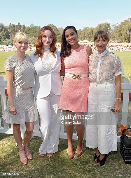 Actors Anna Faris Christina Hendricks Rosario Dawson and Rashida Jones attend the FifthAnnual Veuve Clicquot Polo Classic at Will Rogers State...