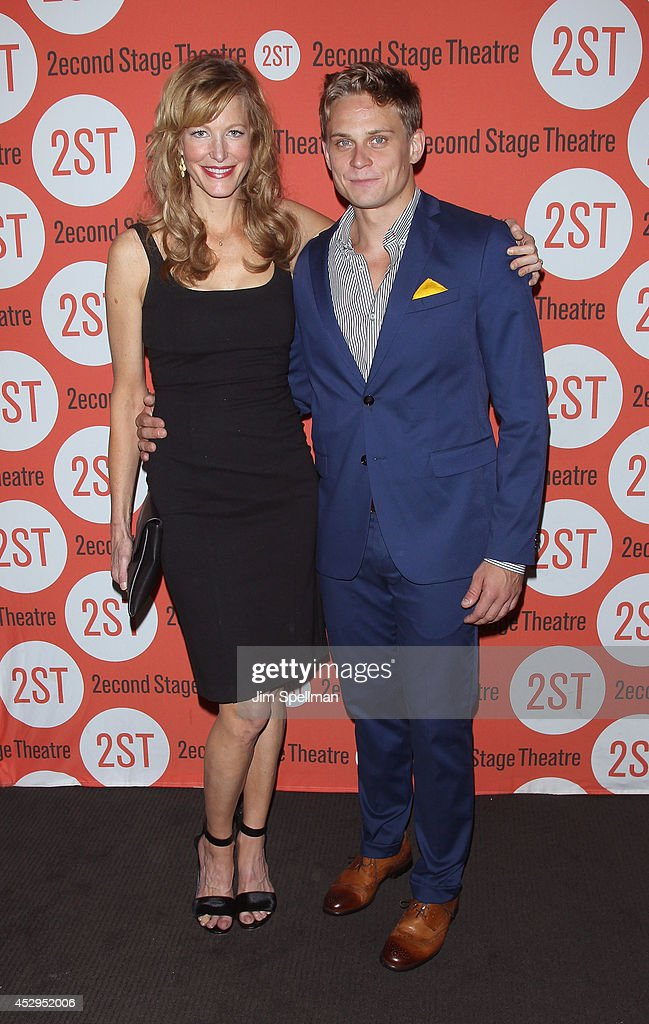 Actors Anna Gunn and Billy Magnussen attend the 'Sex With Strangers' Opening Night after party at Four at Yotel on July 30, 2014 in New York City.