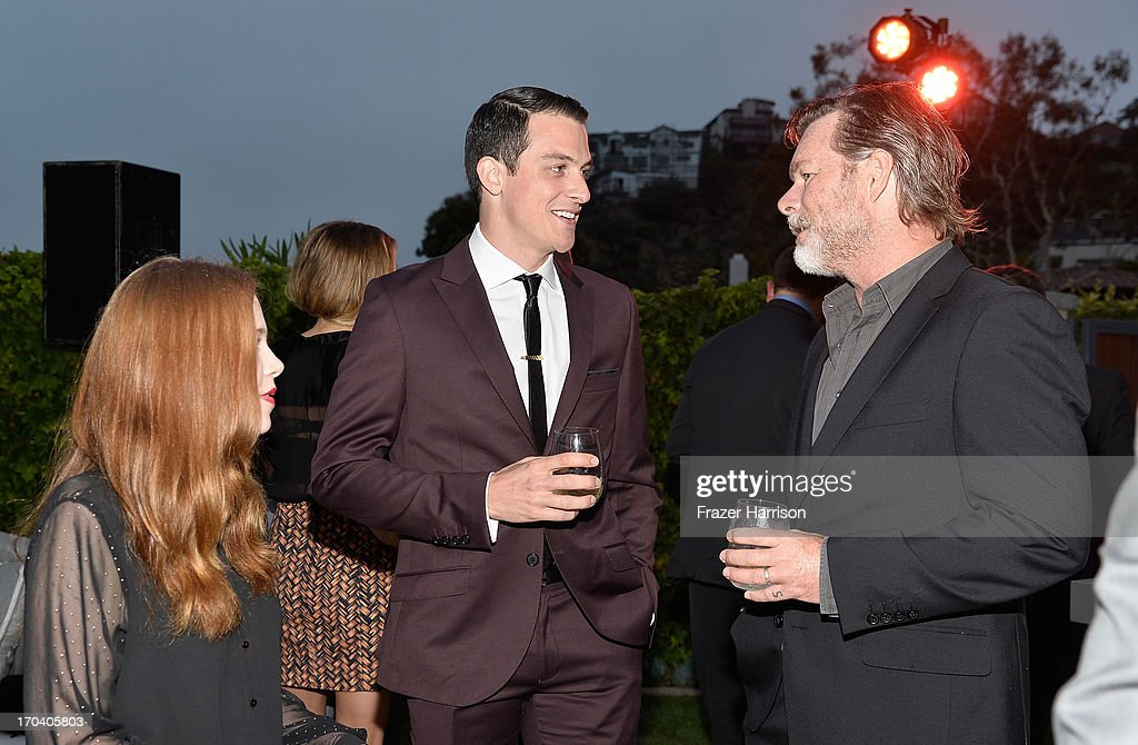 Actors Anna McGahan and James Mackay and director Keiran Darcy Smith attend the Australians In Film and Heath Ledger Scholarship Host 5th Anniversary Benefit Dinner on June 12, 2013 in Los Angeles, California.