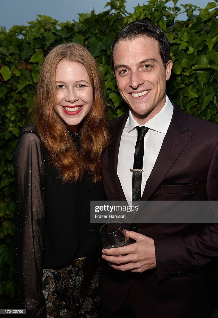 Actors Anna McGahan and James Mackay attend the Australians In Film and Heath Ledger Scholarship Host 5th Anniversary Benefit Dinner on June 12, 2013 in Los Angeles, California.