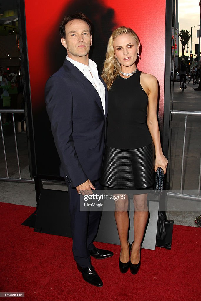 Actors Anna Paquin (R) and Stephen Moyer attend HBO's 'True Blood' season 6 premiere at ArcLight Cinemas Cinerama Dome on June 11, 2013 in Hollywood, California.