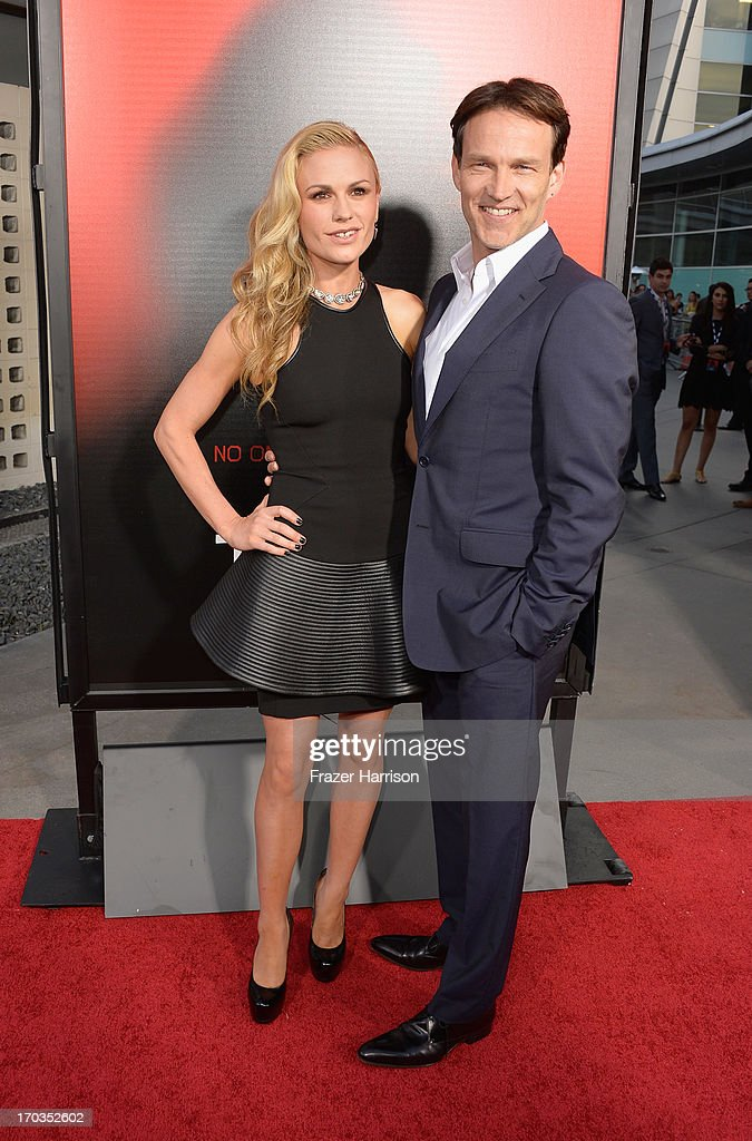 Actors Anna Paquin and Stephen Moyer attend the premiere of HBO's 'True Blood' Season 6 at ArcLight Cinemas Cinerama Dome on June 11, 2013 in Hollywood, California.