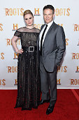 Actors Anna Paquin and Stephen Moyer attend the 'Roots' night one screening at Alice Tully Hall Lincoln Center on May 23 2016 in New York City