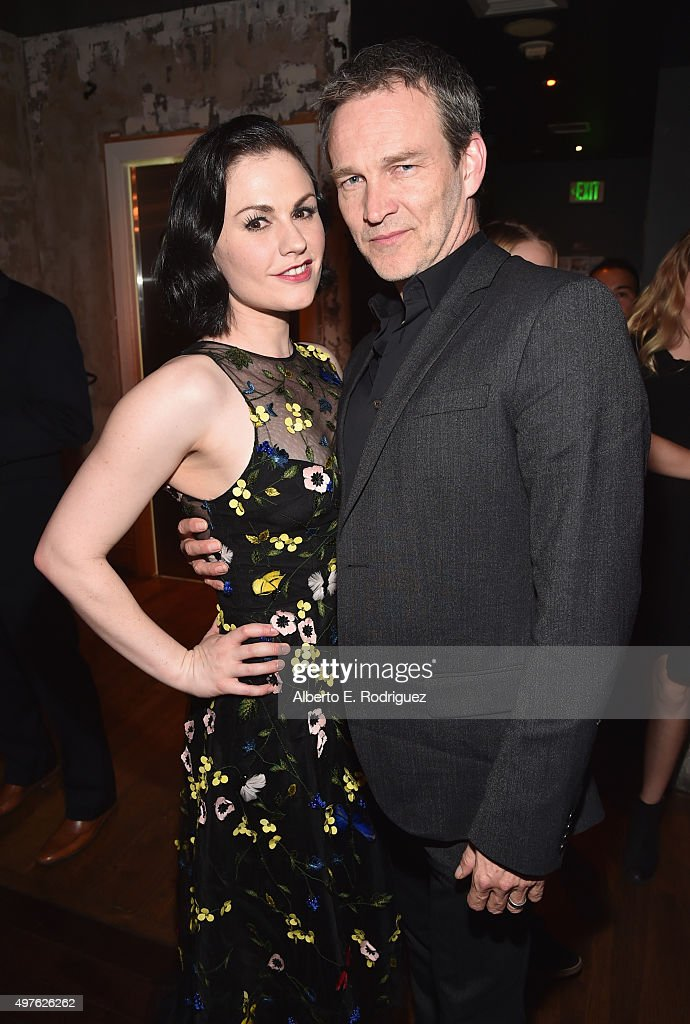 Actors Anna Paquin and Stephen Moyer attend the World Premiere Of DisneyPixar's THE GOOD DINOSAUR at the El Capitan Theatre on November 17 2015 in...