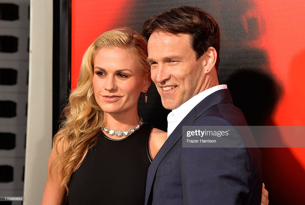 Actors <a gi-track='captionPersonalityLinkClicked' href=/galleries/search?phrase=Anna+Paquin&family=editorial&specificpeople=211602 ng-click='$event.stopPropagation()'>Anna Paquin</a> and <a gi-track='captionPersonalityLinkClicked' href=/galleries/search?phrase=Stephen+Moyer&family=editorial&specificpeople=4323688 ng-click='$event.stopPropagation()'>Stephen Moyer</a> attends the premiere of HBO's 'True Blood' Season 6 at ArcLight Cinemas Cinerama Dome on June 11, 2013 in Hollywood, California.