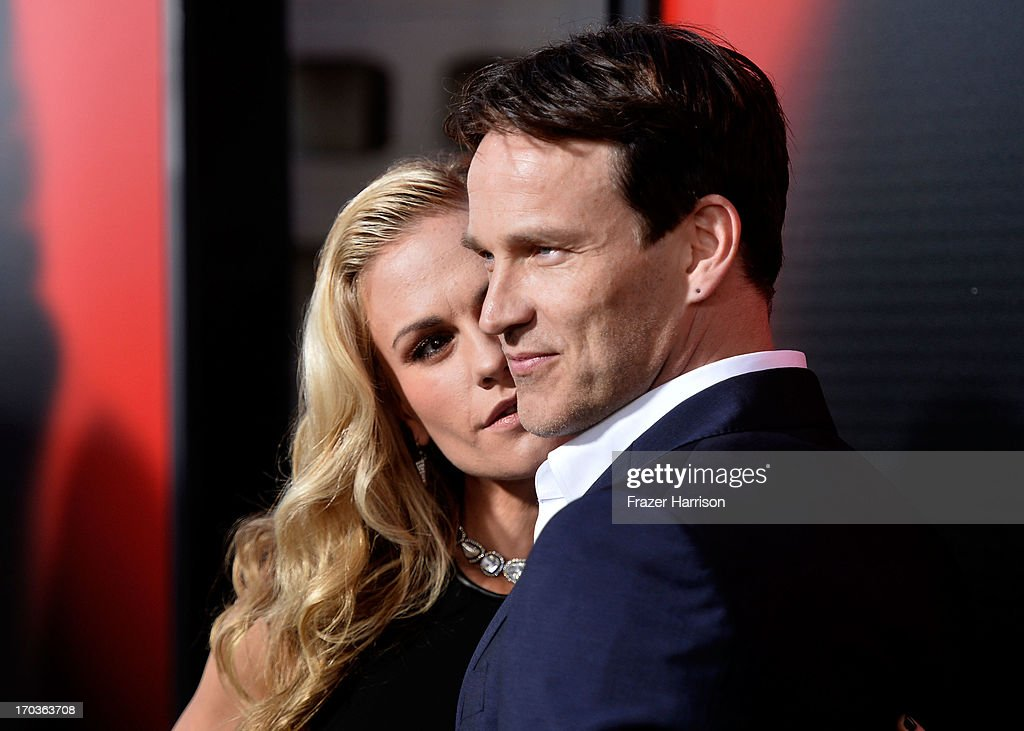 Actors Anna Paquin and Stephen Moyer attends the premiere of HBO's 'True Blood' Season 6 at ArcLight Cinemas Cinerama Dome on June 11, 2013 in Hollywood, California.