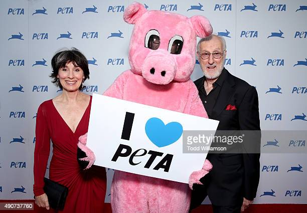 Actors Anna Stuart and James Cromwell attend PETA's 35th Anniversary Party at Hollywood Palladium on September 30 2015 in Los Angeles California