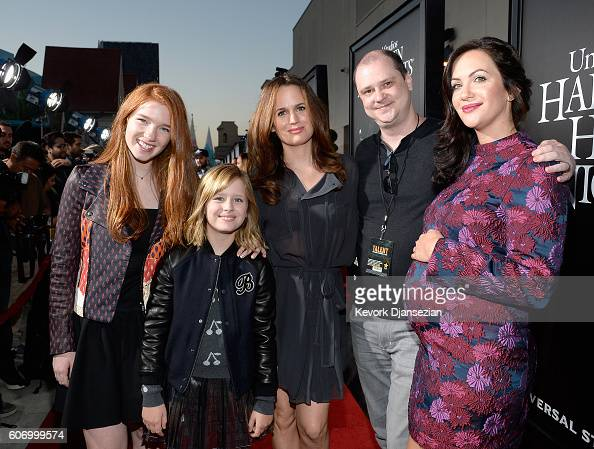 Actors Annalise Basso Lulu Wilson Elizabeth Reaser director Mike Flanagan and actress Kate Siegel attend Universal Studios 'Halloween Horror Nights'...