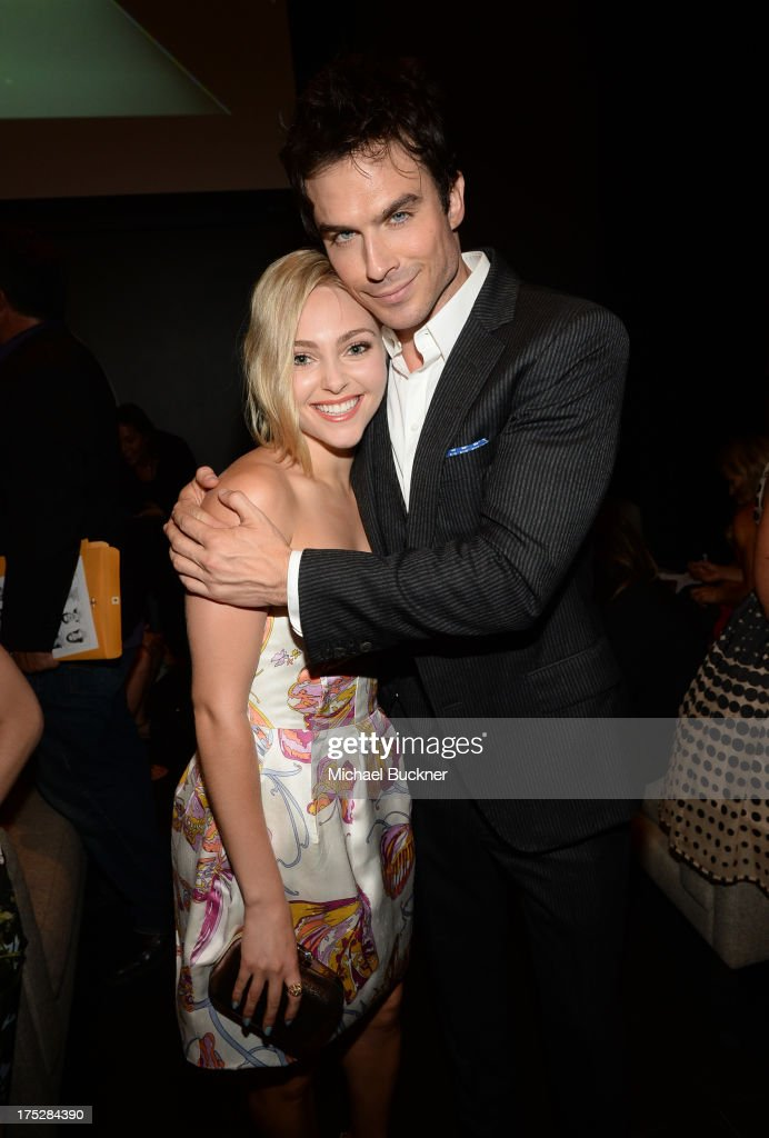 Actors AnnaSophia Robb (L) and Ian Somerhalder attend CW Network's 2013 Young Hollywood Awards presented by Crest 3D White and SodaStream held at The Broad Stage on August 1, 2013 in Santa Monica, California.