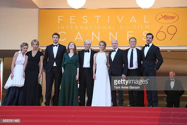 Actors Anne Consigny Virginie Efira Jonas Bloquet Isabelle Huppert director Paul Verhoeven actors Alice Isaaz Christian Berkel Charles Berling and...