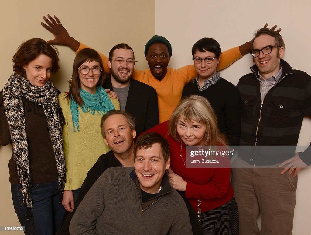 Actors Anne Dodge, Robin Schwartz, Eric Newton, Tishuan Scott, Wiley Wiggins and Gordon Kindlmann (Bottom L-R) actors Jonny Mars, Chris Doubek and Cyndi Williams pose for a portrait during the 2013 Sundance Film Festival at the Getty Images Portrait Studio at Village at the Lift on January 22, 2013 in Park City, Utah.