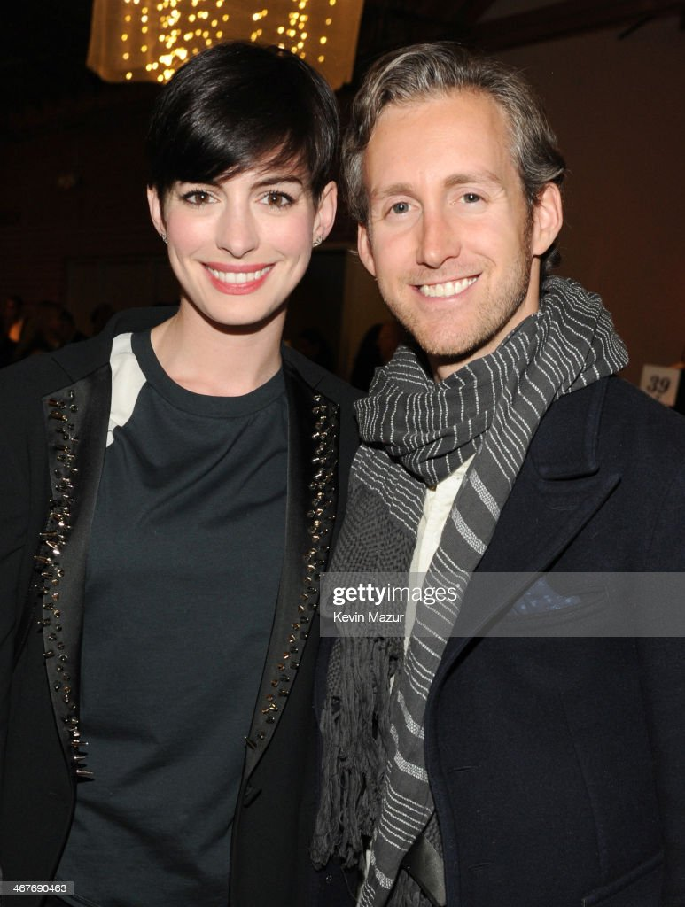 Actors <a gi-track='captionPersonalityLinkClicked' href=/galleries/search?phrase=Anne+Hathaway+-+Actress&family=editorial&specificpeople=11647173 ng-click='$event.stopPropagation()'>Anne Hathaway</a> and <a gi-track='captionPersonalityLinkClicked' href=/galleries/search?phrase=Adam+Shulman&family=editorial&specificpeople=4682498 ng-click='$event.stopPropagation()'>Adam Shulman</a> attend Hollywood Stands Up To Cancer Event with contributors American Cancer Society and Bristol Myers Squibb hosted by Jim Toth and Reese Witherspoon and the Entertainment Industry Foundation on Tuesday, January 28, 2014 in Culver City, California.