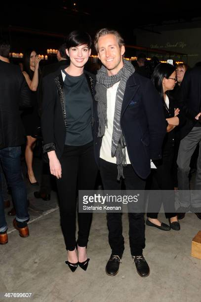 Actors Anne Hathaway and Adam Shulman attend Hollywood Stands Up To Cancer Event with contributors American Cancer Society and Bristol Myers Squibb...