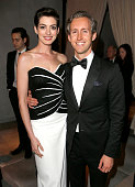 Actors Anne Hathaway and Adam Shulman attend the 2014 Vanity Fair Oscar Party Hosted By Graydon Carter on March 2 2014 in West Hollywood California