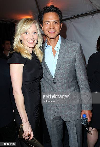 Actors Anne Heche and Benjamin Bratt attend the 2012 Film Independent Spirit Awards at Santa Monica Pier on February 25 2012 in Santa Monica...
