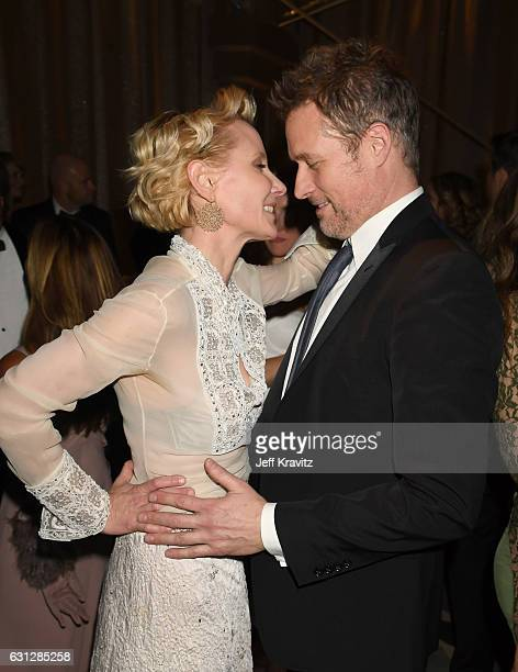Actors Anne Heche and James Tupper attend HBO's Official Golden Globe Awards After Party at Circa 55 Restaurant on January 8 2017 in Beverly Hills...