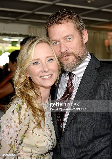 Actors Anne Heche and James Tupper attend the 2014 BAFTA Los Angeles TV Tea presented By BBC America And Jaguar at SLS Hotel on August 23 2014 in...