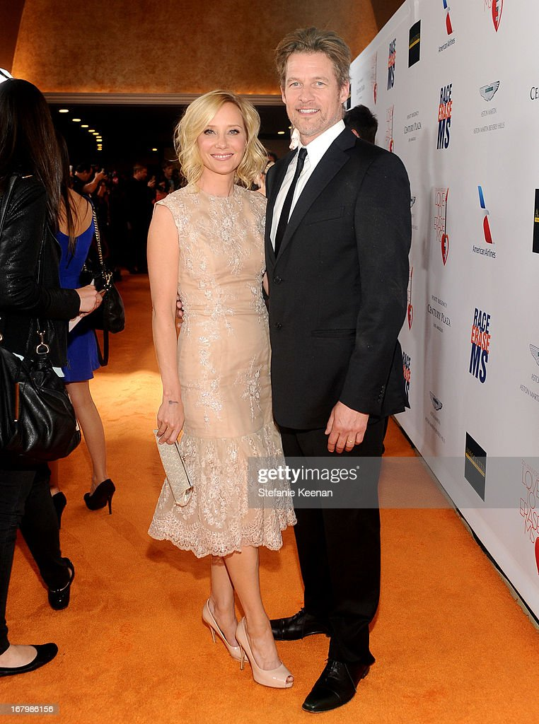 Actors Anne Heche and James Tupper attend the 20th Annual Race To Erase MS Gala 'Love To Erase MS' at the Hyatt Regency Century Plaza on May 3, 2013 in Century City, California.