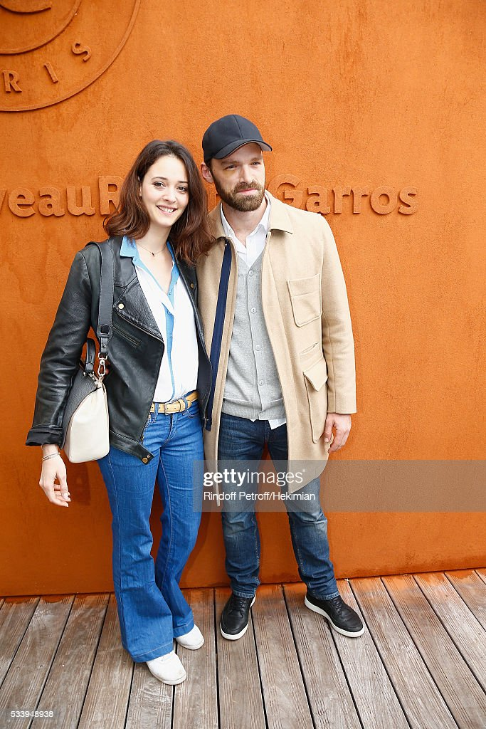 Actors Anne Serra and Alban Lenoir attend the 2016 French Tennis Open - Day Three at Roland Garros on May 24, 2016 in Paris, France.