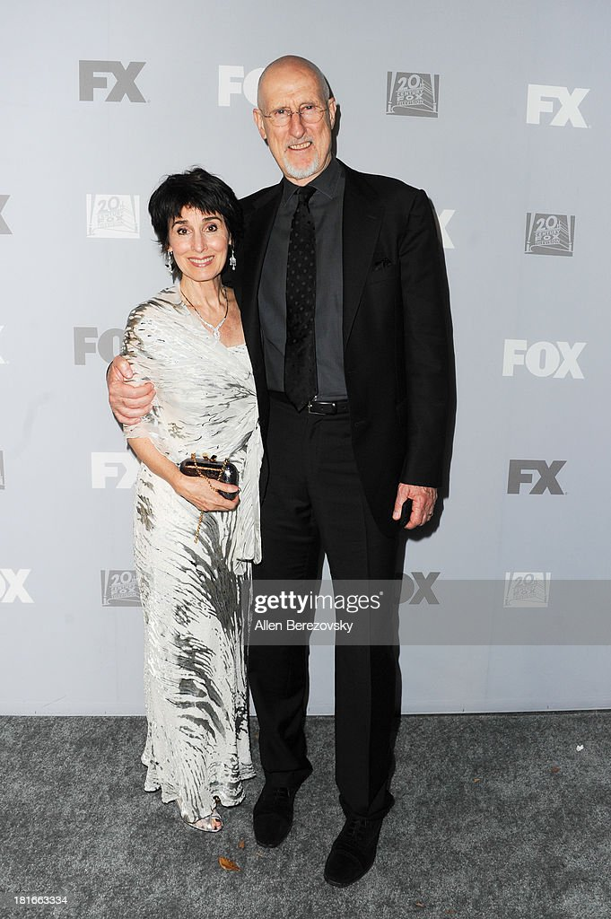 Actors Anne Ulvestad and <a gi-track='captionPersonalityLinkClicked' href=/galleries/search?phrase=James+Cromwell&family=editorial&specificpeople=211295 ng-click='$event.stopPropagation()'>James Cromwell</a> attend the Fox Broadcasting, Twentieth Century Fox Television and FX 2013 Emmy nominees celebration at Soleto on September 22, 2013 in Los Angeles, California.