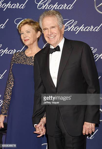Actors Annette Bening and Warren Beatty attend the 28th Annual Palm Springs International Film Festival Film Awards Gala at the Palm Springs...