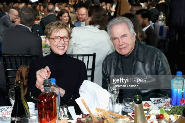 Actors Annette Bening and Warren Beatty attend the 32nd Annual Film Independent Spirit Awards sponsored by FIJI Water at Santa Monica Pier on...