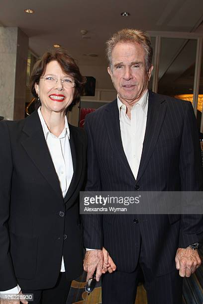 Actors Annette Bening and Warren Beatty attend the 3rd Annual Variety's Power of Women Event presented by Lifetime at the Beverly Wilshire Four...