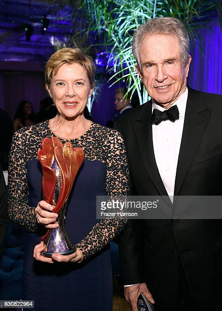 Actors Annette Bening and Warren Beatty attend the after party for the 28th Annual Palm Springs International Film Festival Film Awards Gala at the...