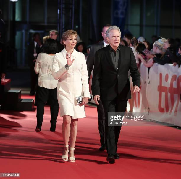 Actors Annette Bening and Warren Beatty attend the premiere of 'Film Stars Don't Die In Liverpool' during the 2017 Toronto International Film...