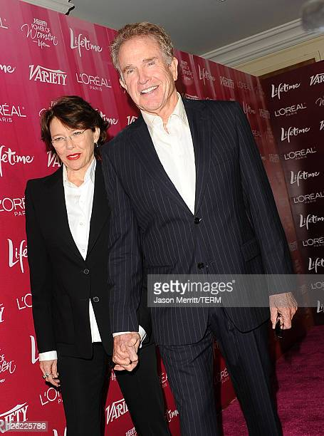 Actors Annette Benning and Warren Beatty arrive at 3rd Annual Variety's Power of Women Event presented by Lifetimeon at the Beverly Wilshire Four...