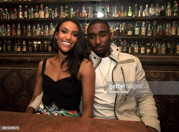 Actors Annie Izolzeh and Demetrius Shipp Jr attend Flaunt And David LaChapelle Celebrate The Cadence Issue Featuring Tupac Shakur On The Cover on May...