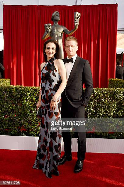 Actors Annie Parisse and Paul Sparks attend The 22nd Annual Screen Actors Guild Awards at The Shrine Auditorium on January 30 2016 in Los Angeles...