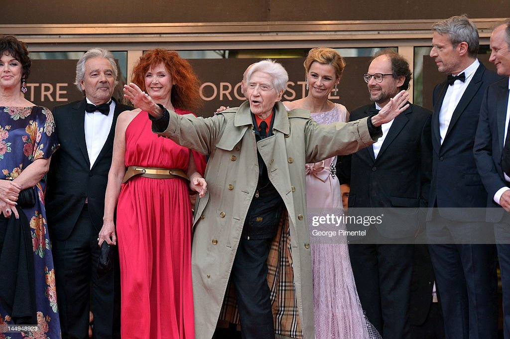 Actors Anny Duperey, Pierre Arditi, Sabine Azema, director Alain Resnais and actors Anne Consigny, Denis Podalydes and Lambert Wilson attend the 'Vous N'avez Encore Rien Vu' Premiere during the 65th Annual Cannes Film Festival at Palais des Festivals on May 21, 2012 in Cannes, France.