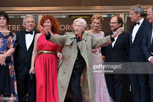 Actors Anny Duperey Pierre Arditi Sabine Azema director Alain Resnais and actors Anne Consigny Denis Podalydes and Lambert Wilson attend the 'Vous...