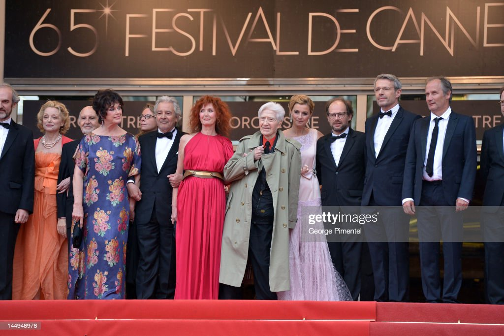 Actors Anny Duperey, Pierre Arditi, Sabine Azema, director Alain Resnais and actors Anne Consigny, Denis Podalydes, Lambert Wilson and Hippolyte Girardot attend the 'Vous N'avez Encore Rien Vu' Premiere during the 65th Annual Cannes Film Festival at Palais des Festivals on May 21, 2012 in Cannes, France.