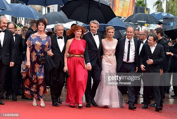 Actors Anny Duperey Pierre Arditi Sabine Azema Lambert Wilson Anne Consigny Hippolyte Girardot and Mathieu Amalric attend the 'Vous N'avez Encore...