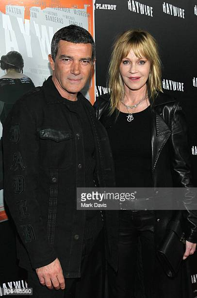 Actors Anotnio Banderas and Melanie Griffith arrive at Relativity Media's premiere of 'Haywire' cohosted by Playboy held at the DGA Theater on...