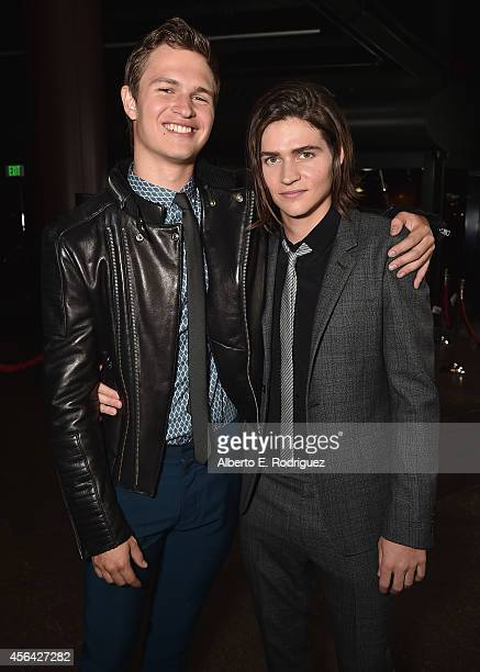 Actors Ansel Elgort and Will Peltz attend the premiere of Paramount Pictures' 'Men Women Children' at Directors Guild of America on September 30 2014...