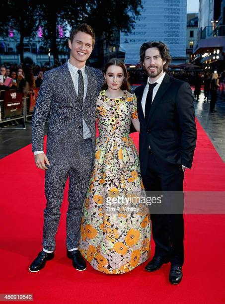 Actors Ansel Elgort Kaitlyn Dever and director Jason Reitman attend the Virgin Atlantic Gala VIP arrivals for 'Men Women Children' during the 58th...