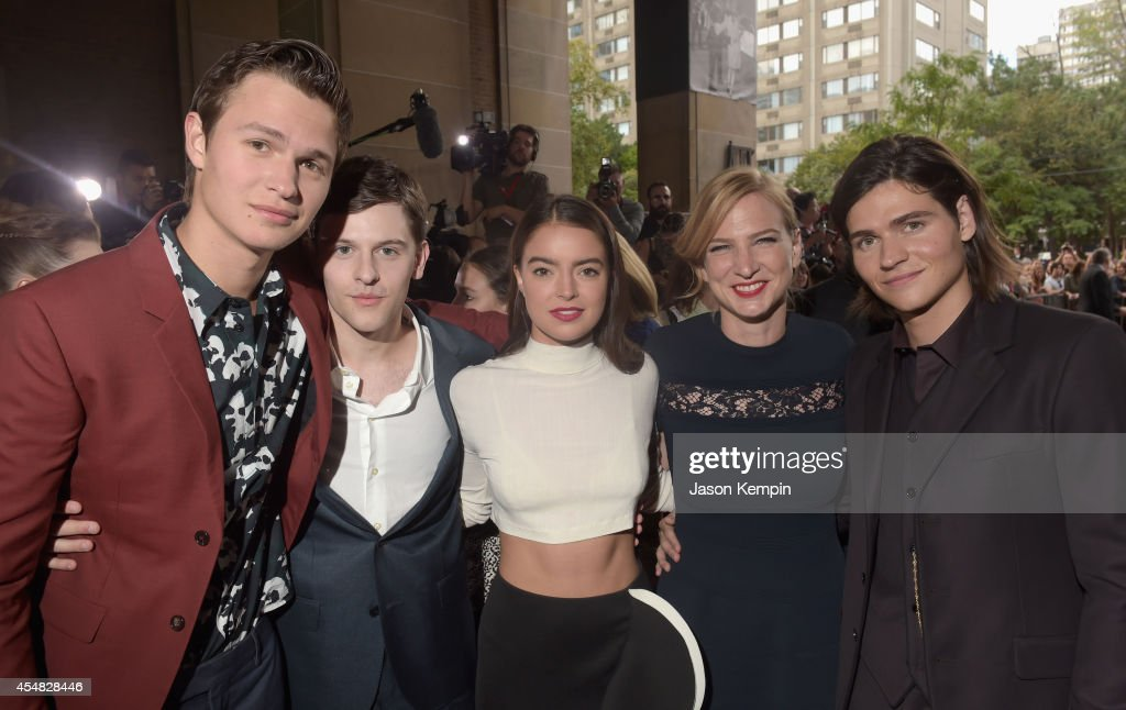Actors Ansel Elgort, Travis Tope, Katherine C. Hughes, Producer Helen Estabrook and actor Will Peltz attend the Gala Screening of Paramount Pictures' 'MEN, WOMEN,& CHILDREN' during the 2014 Toronto International Film Festival at Ryerson Theatre on September 6, 2014 in Toronto, Canada.