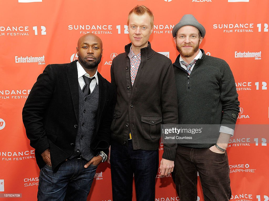 Actors Anselm Richardson, Jay Paulson, and Will Bouvier attend the 'Black Rock' premiere during the 2012 Sundance Film Festival held at Library Center Theater on January 21, 2012 in Park City, Utah.
