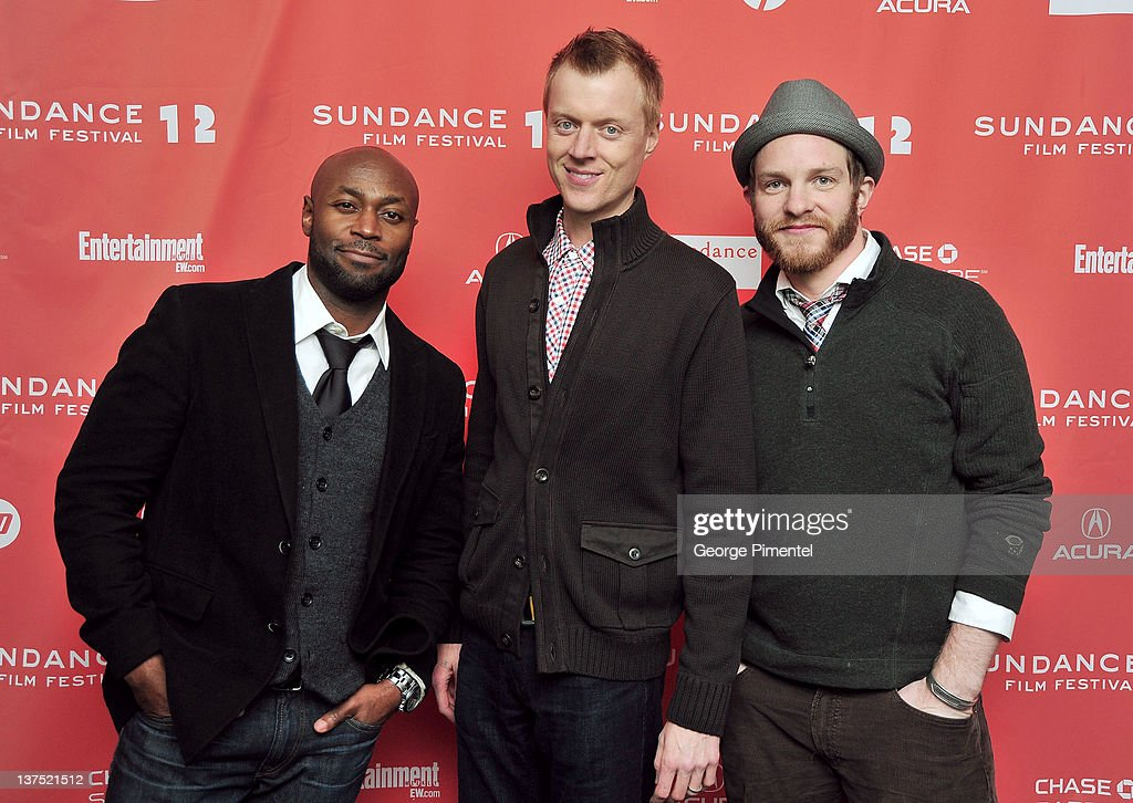 Actors Anslem Richardson, Jay Paulson and Will Bouvier arrive at the 'Black Rock' Premiere during the 2012 Sundance Film Festival at Library Center Theater on January 21, 2012 in Park City, Utah.