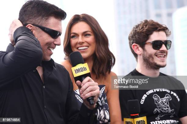 Actors Anson Mount Serinda Swan and Iwan Rheon at the #IMDboat At San Diego ComicCon 2017 at The IMDb Yacht on July 20 2017 in San Diego California