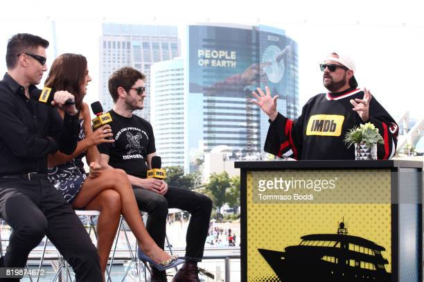 Actors Anson Mount Serinda Swan Iwan Rheon and host Kevin Smith at the #IMDboat At San Diego ComicCon 2017 at The IMDb Yacht on July 20 2017 in San...