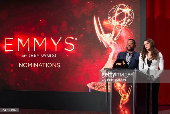 Actors Anthony Anderson and Lauren Graham announce the 2016 nominees for the 68th Emmys Nominations Announcement at the Academy of Television Arts...